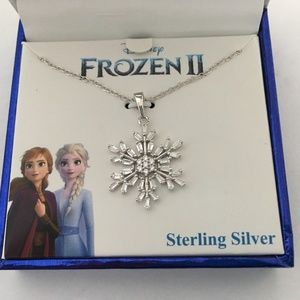Dinsey Frozen Sterling Silver Snowflake Necklace